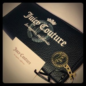 Juicy Couture Los Angeles zipper wallet